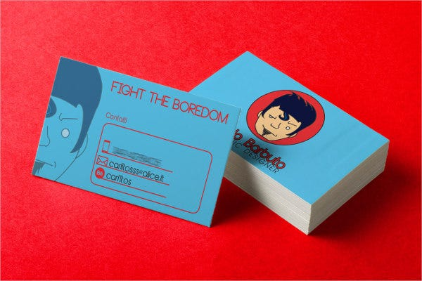 funny personal business card