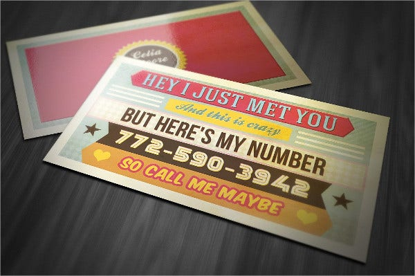 Funny Retro Business Card