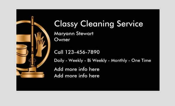 classy-cleaning-business-card