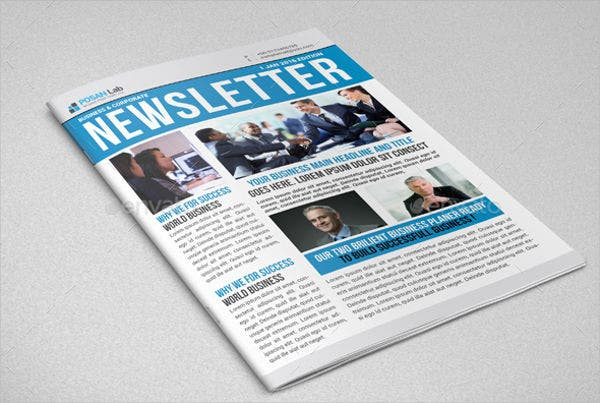 professional printable newsletter template