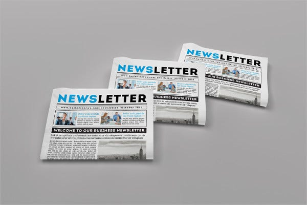 print design newsletter template