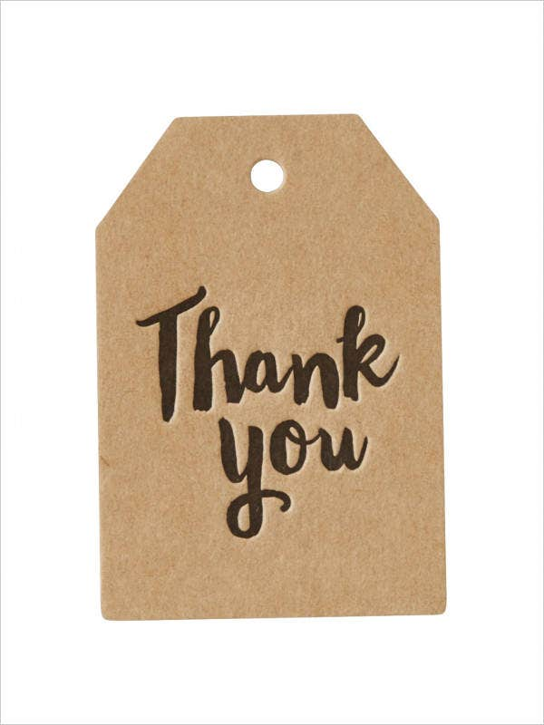 graphic regarding Thank You Gift Tags Printable referred to as Cost-free Printable Reward Tag - 8+ Absolutely free PSD, Vector AI, EPS Structure