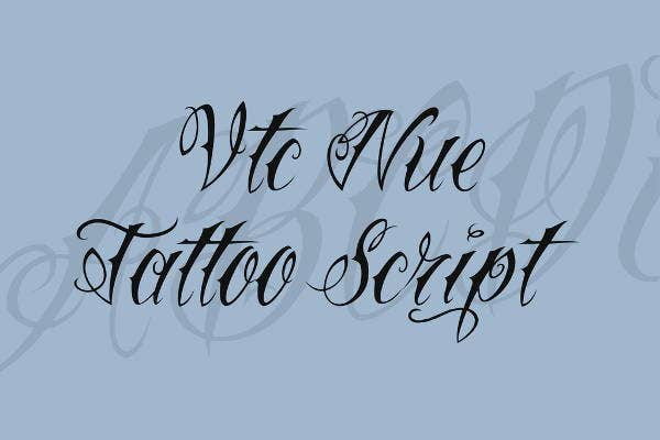 Tattoo Fancy Cursive Font
