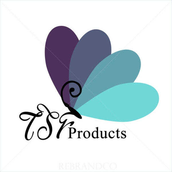 Floral Butterfly Logo