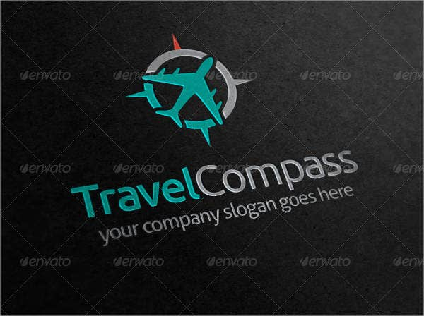 travel compass logo design
