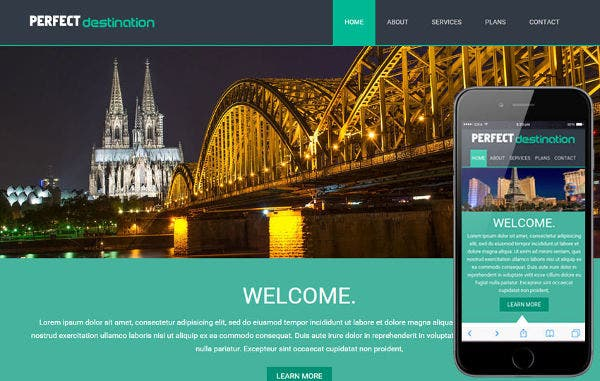 Travel Guide Mobile Website Template