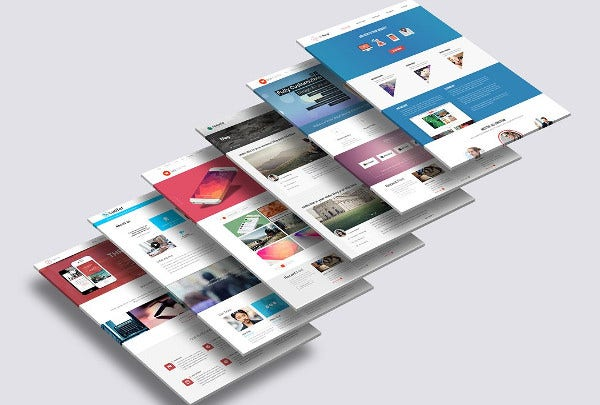 3d website mock up template