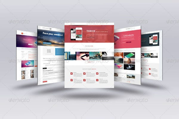 3d web page presentation template