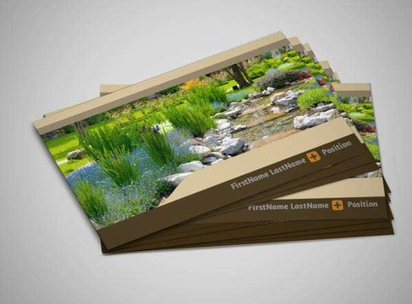 8 landscaping business cards printable psd eps format download landscaping company business card accmission Images