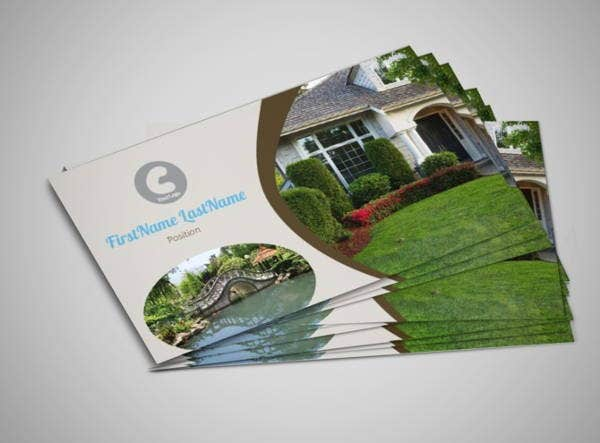 8 landscaping business cards printable psd eps format for Gardening business cards