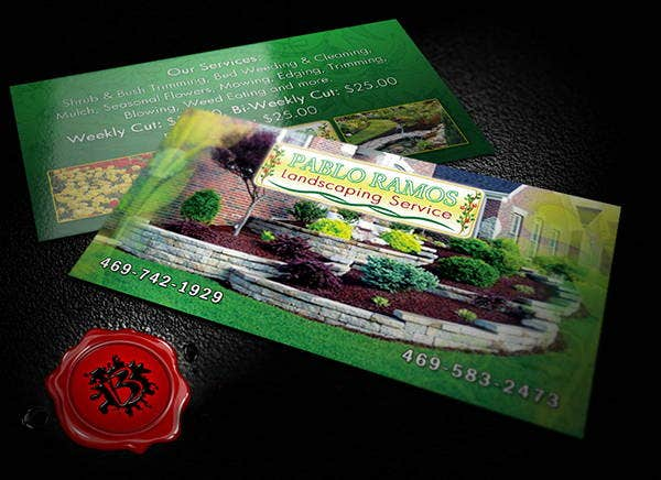 8 landscaping business cards printable psd eps format download custom landscaping business card accmission Images