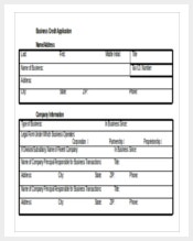 free download business credit application ms word template1