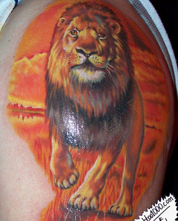 Tattoo Art of Lion