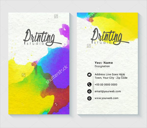 Colored Printable Business Card