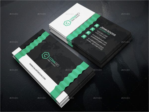 Printable Folded Business Card