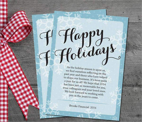 Printable Holiday Business Card