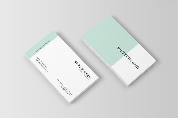 Printable Simple Business Card Template