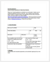 high school internshipnapplication form free download word document