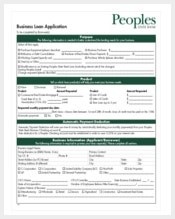 example small business loan application form free download