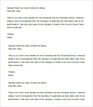 Thank you letter to boss 6 free word pdf documents download sample thank you letter to boss for bonus spiritdancerdesigns