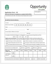 free sample tarbucks restaurant employment application download1