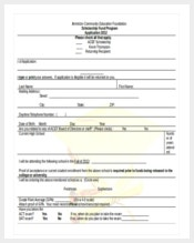 education scholarship application word document