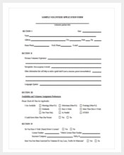 free download volunteer registration application form template