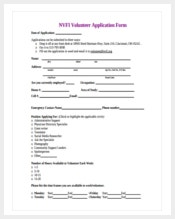 how to write a volunteer application form