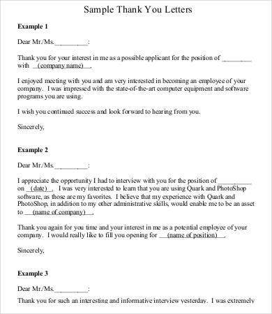 Thank You Letter To Boss | Thank You Letter To Boss 6 Free Word Pdf Documents Download