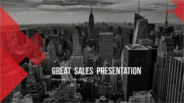 best sales powerpoint template