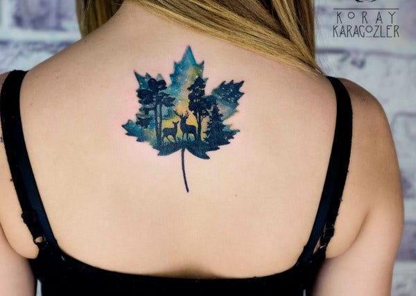 Minimalist Watercolor Tattoo