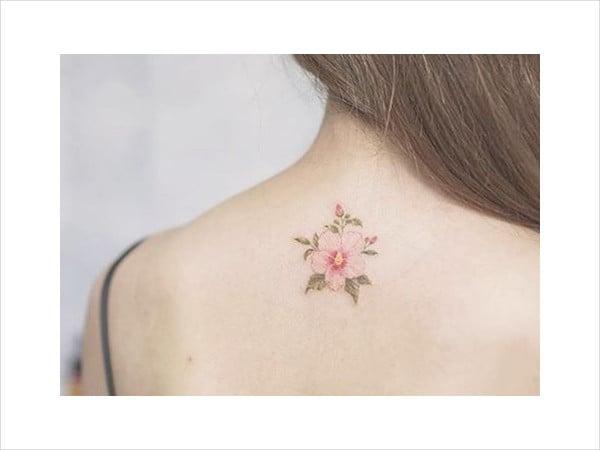 Minimalist Floral Tattoo