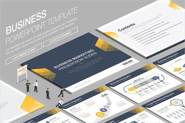 9 awesome business powerpoint templates free premium templates professional business powerpoint template wajeb Images