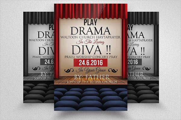 12 Theater Flyer Templates Psd Word Eps Vector