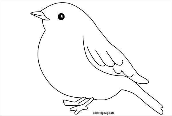 Pretty Paper Bird Template