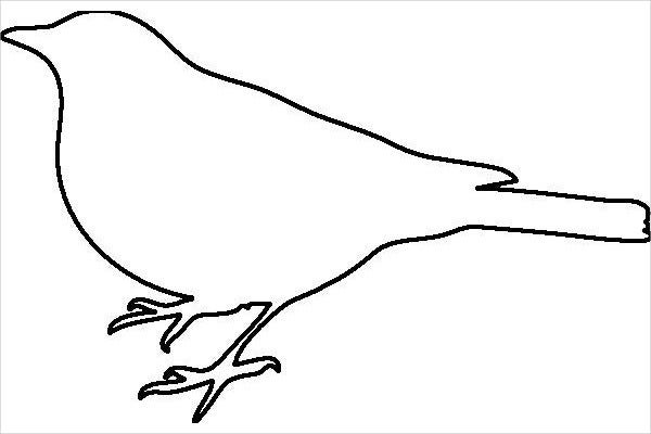 Free Printable Bird Template