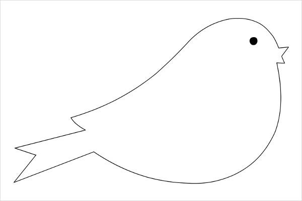 9 printable bird templates free sample example format for Bird templates to cut out