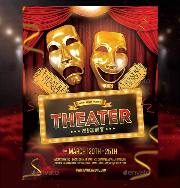 Theater Flyer Template   Free Psd Vector Ai Eps Format