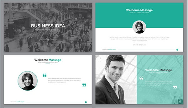 9 awesome business powerpoint templates free premium templates corporate business powerpoint template wajeb Image collections