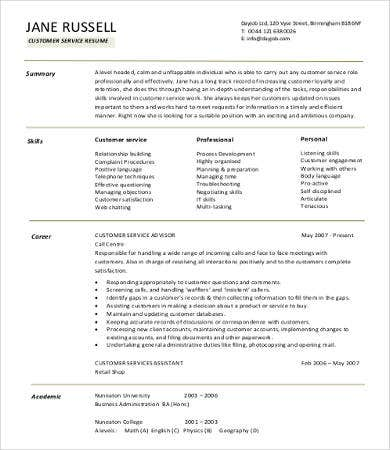 Sample Retail Resumes - 9+ Free Word, Pdf Documents Download