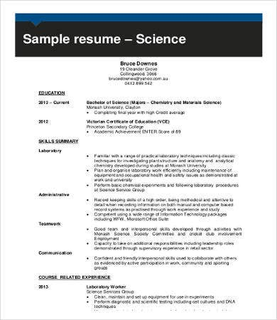 retail work experience resume