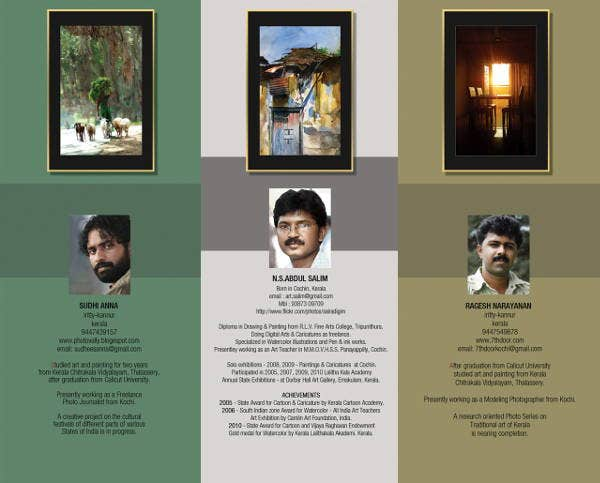 Painting Exhibition Brochure