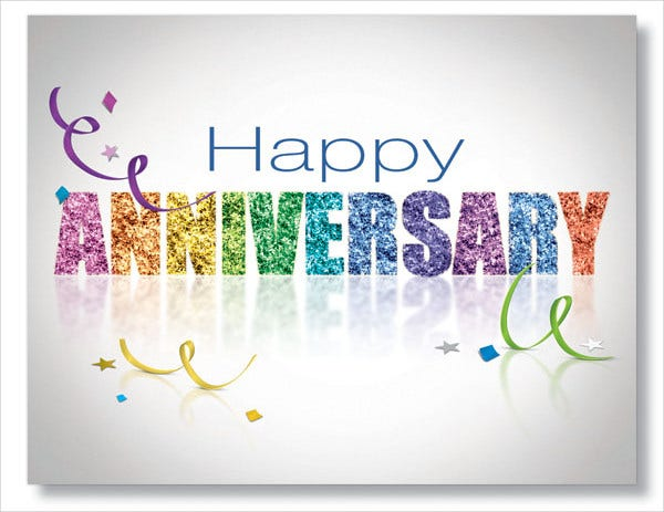 Work Anniversary Cards  Free Sample Example Format Download