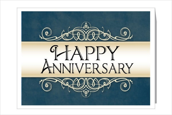 9 work anniversary cards free sample example format download
