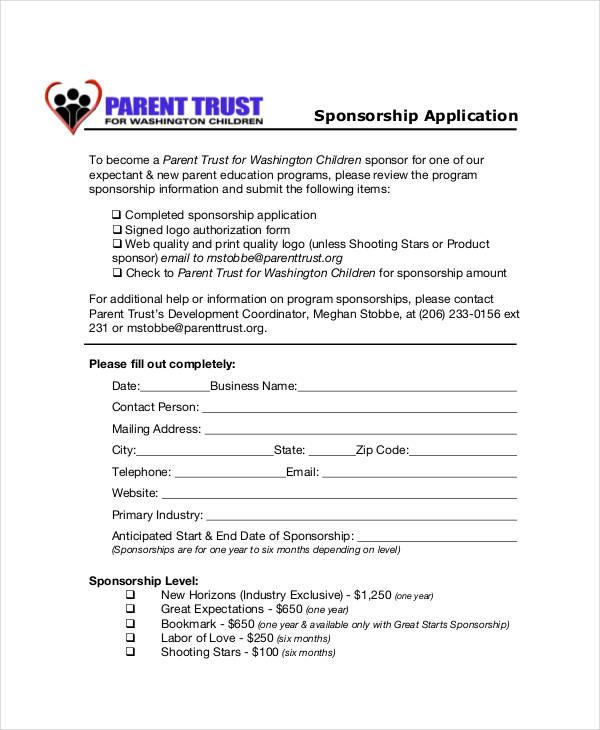 sponsor form template | datariouruguay