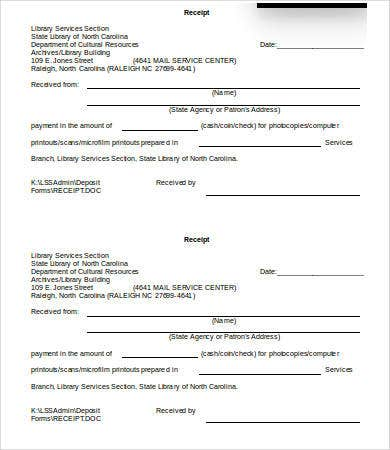 Free Receipt Template - 8+ Free Word, PDF Documents Download