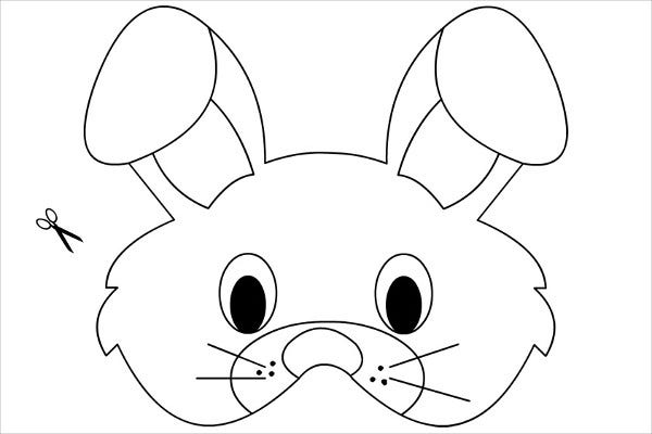 Printable Rabbit Mask Template