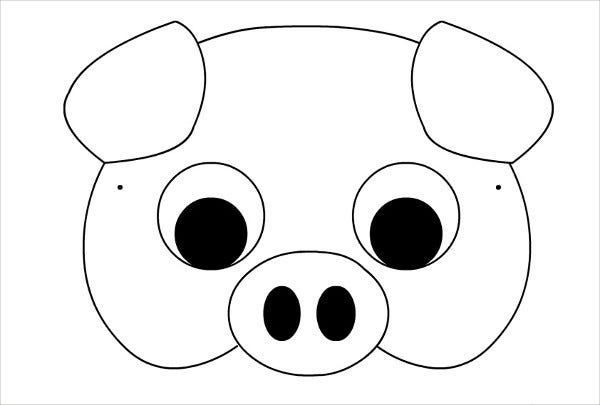 Printable Pig Mask Template  Face Mask Templates Printable