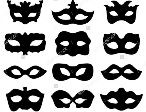 Printable Mask Template Silhouettes