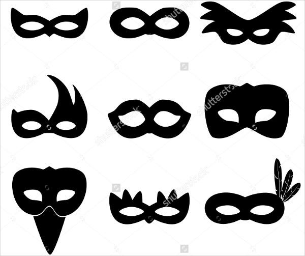Printable Carnival Mask Template